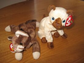 Ty Beanie Babies - 2 cats