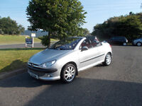 PEUGEOT 206CC SPORTS COVERTIBLE STUNNING SILVER 2001 FULL MOT BARGAIN ONLY 750 *LOOK* PX/DELIVERY