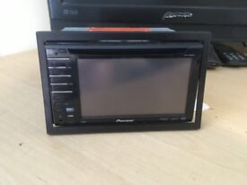 Pioneer double din DVD headunit, Touchscreen USB AUX.