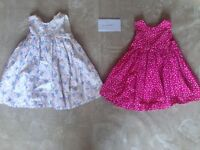 Two immaculate Mothercare dresses age 18-24 months