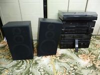 Sony Separates - AMP, CD, Twin tape Deck, Tuner, Record Deck + 2 JVC Speakers