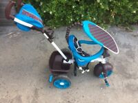 Kids trike (choice of 3) with detachable parent handle
