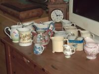 collection of 15 small jugs.