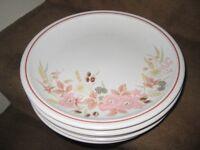 5 Hedge Rose Stoneware Patterned Dinner Plates