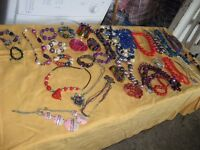 LARGE COLLECTION OF COSTUME JEWELERY