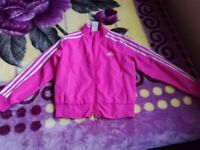 Girls pink Adidas jacket top