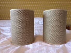 LAMP SHADE AND 2 MATCHING SIDE LAMP SHADES