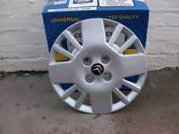 new citroen wheel trims 14 inch silver