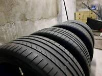 4 x Continental SportContact 5 part worn tyres. 225/40/18