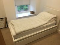 IKEA single bed for sale with pocket sprung mattress