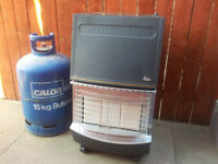 valor portable gas heater with gas bottle