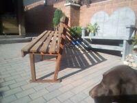 iroko red wood garden bench 8ft long