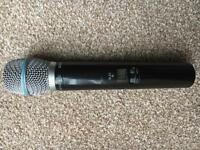 Shure 87a beta wireless microphone/receiver/charger. And Alligator case
