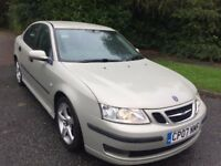 SAAB 9-3 TID VECTOR AUTOMATIC 07 REG IN SILVER WITH GREY LEATHER,102,300 MILES WITH MOT SEPT 2018