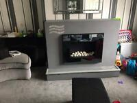 TV Fireplace and fire (TV not included)