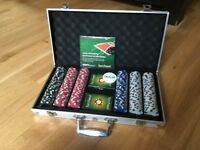 Complete Poker Set & Folding Table Top - Brand New