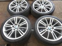 "18"" GENUINE BMW MV3 ALLOY WHEELS / TYRES"