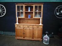 SOLID PINE FARMHOUSE WELSH DRESSER VERY SOLID DRESSER AND WITH LOADS OF STORAGE