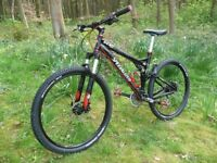 Grab Yourself A Great Light Ride with A Specialized XC Pro Full Suspension Upgraded Pocket Rocket .