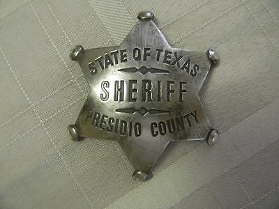 Old West Props (Prop Old West SILVER PLATED JOHN WAYNE BADGE FROM