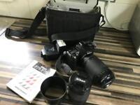 Nikon F75 film camera with 2 lenses plus flash lenses 1/ 28- 100 lenses 2/ 70-300 £75 ono