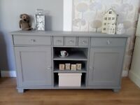 Beautiful Solid Pine Sideboard Painted in Frenchic City Slicker Grey