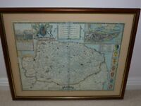 FRAMED PRINT OF OLD EAST ANGLIA NORFOLK AND SUFFOLK PROFFESSIONALLY FRAMED ANTI-GLARE GLASS