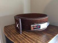 RDX Leather weightlifting lever belt