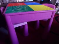 NEXT LEGO ACTIVITY TABLE + TWO CHAIRS