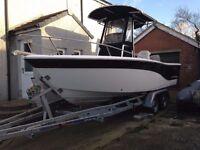 SEAFOX 206CC ULTIMATE SPORT FISHING BOAT 150HP SUZUKI, TRAILER. GREAT CONDITION £14500