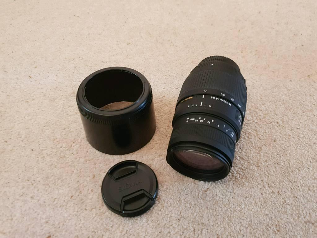 Sigma 70 300 F 4 56 Dg Macro Telephoto Zoom Lens For Nikon In 300mm Os