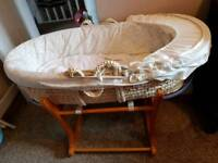 Moses basket great condition