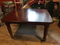 Mahogany dining table.
