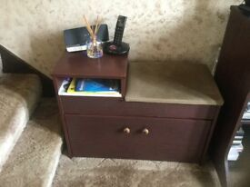 #Traditional telephone table bench