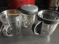 Nutribullet cups x 3