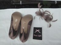 Phase Eight - Formal Ladies Shoes - Size 5 - Good as new condition - Light brown with cream trim