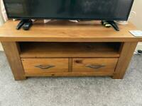 Next wooden television stand with matching coffee table