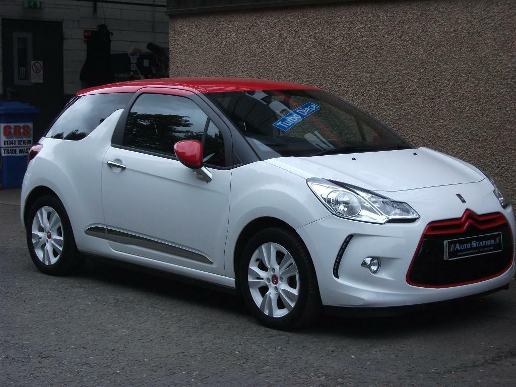 citroen ds3 1 6 e hdi airdream dstyle red white 2013 in elgin moray gumtree. Black Bedroom Furniture Sets. Home Design Ideas
