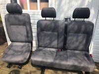 VW Genuine T5 Tassimo Kombi Seats 2+1, including Kombi floor and all fixings