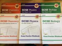 GCSE Revision Guides Workbooks Science Biology Chemistry Physics AQA