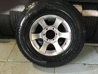 ALLOYS X 4 OF 15 INCH 4X4 6/STUD/FITMENT/139,7/MIL/PCD/FULLY POWDERCOATED INA STUNNING SHADOW/CHROME