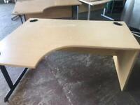 1600mm Left Curved Office Desk