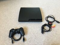 Sony PlayStation 3 Slim 320GB Charcoal Black Console (CECH-3003B) - Rarely Used