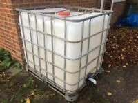1000 Litre IBC container - allotment rain water fish tank aquaponics brewing storage (CAN DELIVER)