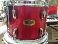 "Pearl vision maple 12"" tom in red sparkle"
