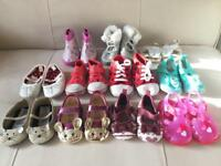 Baby girl shoes bundle 0-6 mths