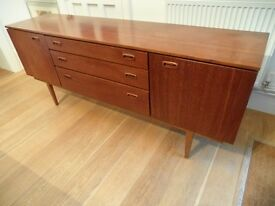 1960's Teak Nathan Danish Sideboard TV unit Storage