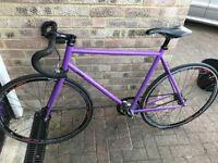 Fixie bike 54cm Purple