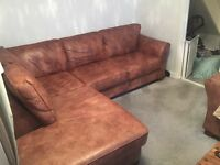marks and spencer leather sofas - x1 3 seater corner and x1 2 seater sofa