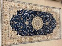 Handmade pure silk rug, 152cm x92 cm.